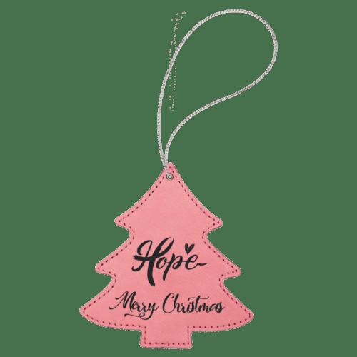 Leatherette Tree Ornament - 8 Colors 6