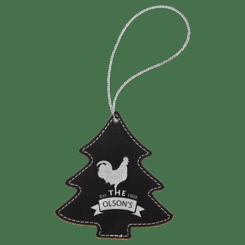 Leatherette Tree Ornament - 8 Colors 7