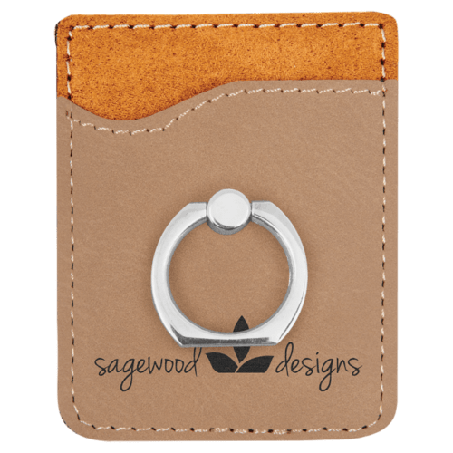 Leatherette Cell Phone Wallet with Ring - 11 Colors 2