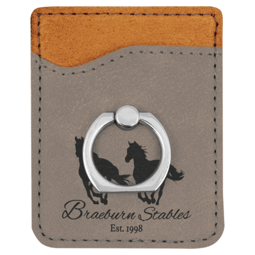 Leatherette Cell Phone Wallet with Ring - 11 Colors 6