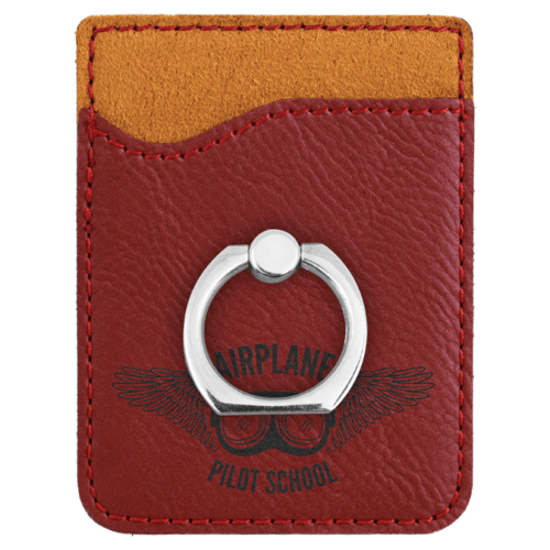 Leatherette Cell Phone Wallet with Ring - 11 Colors 7
