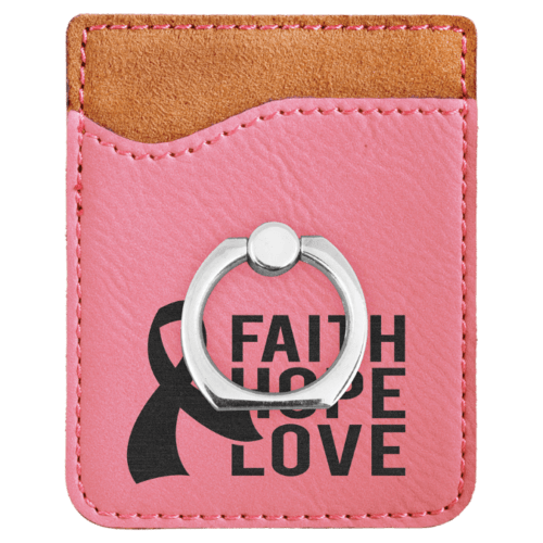 Leatherette Cell Phone Wallet with Ring - 11 Colors 8