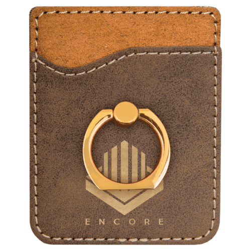 Leatherette Cell Phone Wallet with Ring - 11 Colors 9