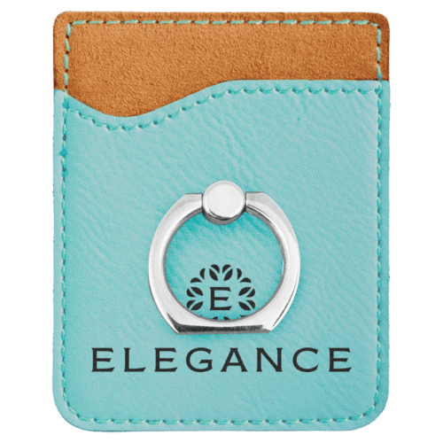 Leatherette Cell Phone Wallet with Ring - 11 Colors 10