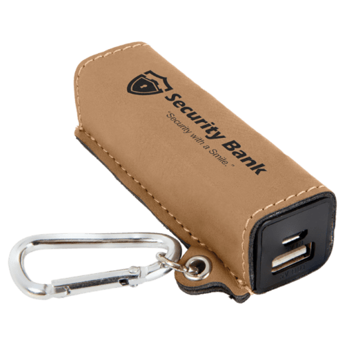 Leatherette 2000 mAh Power Bank with USB Cord - 10 Colors 1