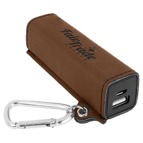 Leatherette 2000 mAh Power Bank with USB Cord - 10 Colors 2