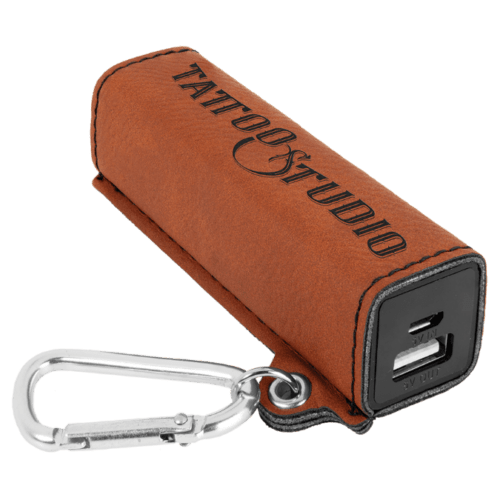 Leatherette 2000 mAh Power Bank with USB Cord - 10 Colors 3