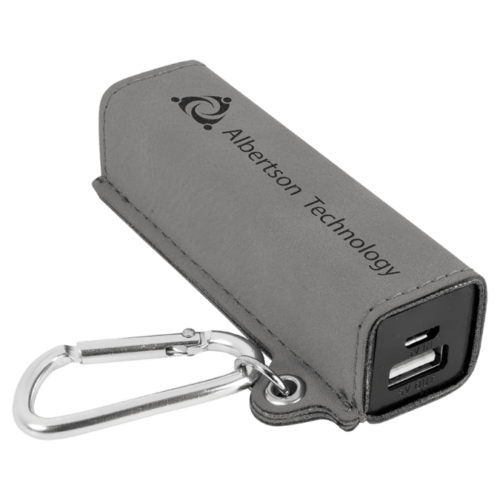 Leatherette 2000 mAh Power Bank with USB Cord - 10 Colors 4