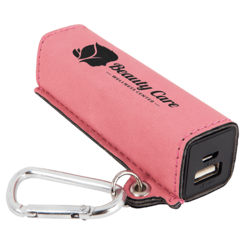 Leatherette 2000 mAh Power Bank with USB Cord - 10 Colors 5