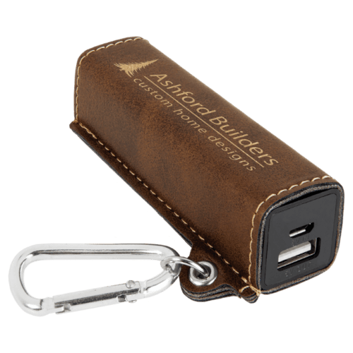 Leatherette 2000 mAh Power Bank with USB Cord - 10 Colors 7