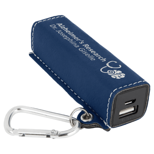 Leatherette 2000 mAh Power Bank with USB Cord - 10 Colors 8