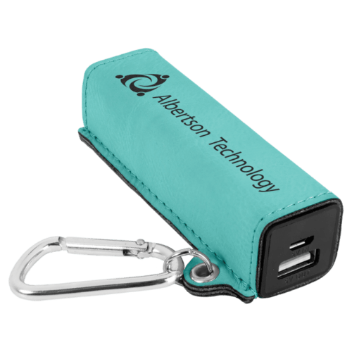 Leatherette 2000 mAh Power Bank with USB Cord - 10 Colors 9