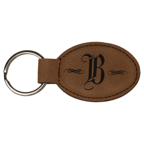 Personalized Oval Keychain - 15 Colors 2