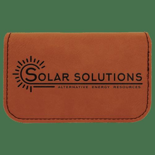 Leatherette Flexible Card Case - 6 Colors 4