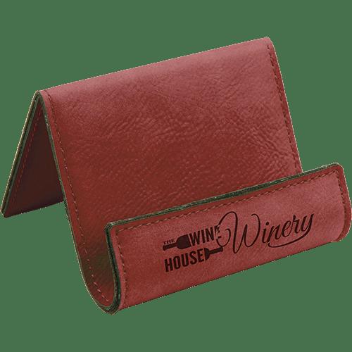 Leatherette Holder/Easel - 10 Colors 9