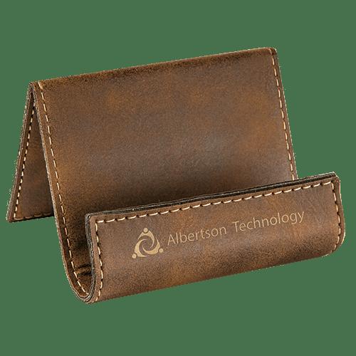 Leatherette Holder/Easel - 10 Colors 10