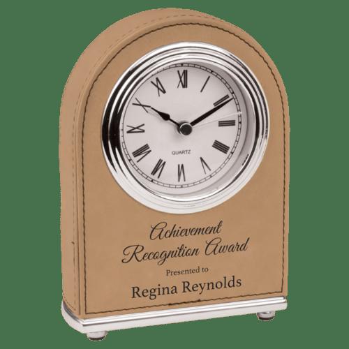 Leatherette Arch Clock - 4 Colors 1