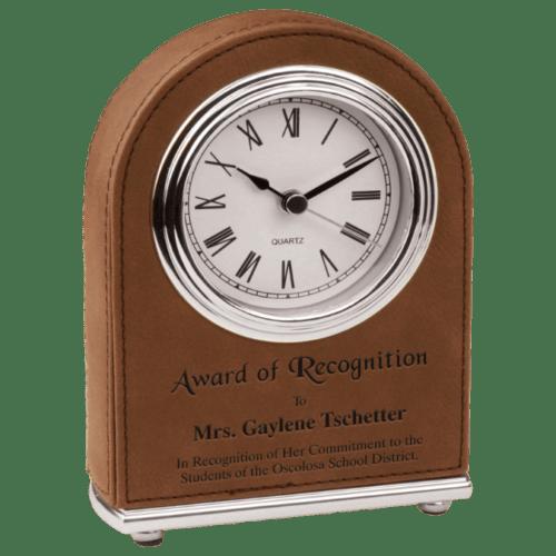 Leatherette Arch Clock - 4 Colors 2