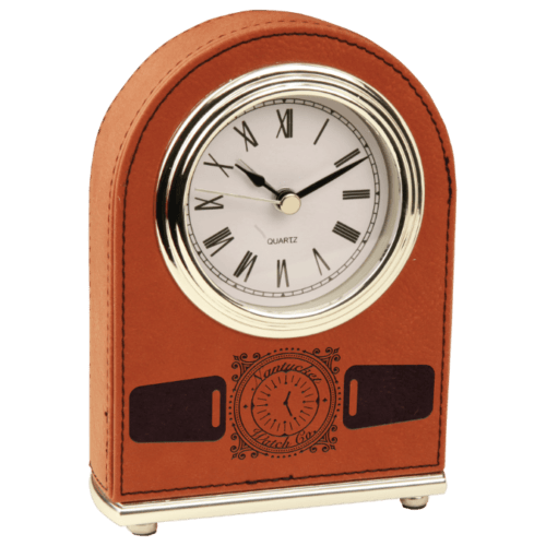 Leatherette Arch Clock
