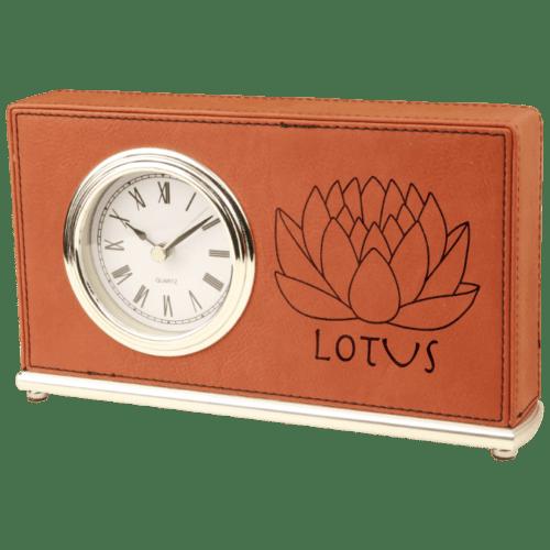 Leatherette Horizontal Desk Clock - 4 Colors 3