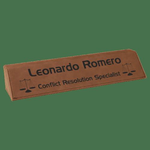 Leatherette Name Bar - 5 Colors 3