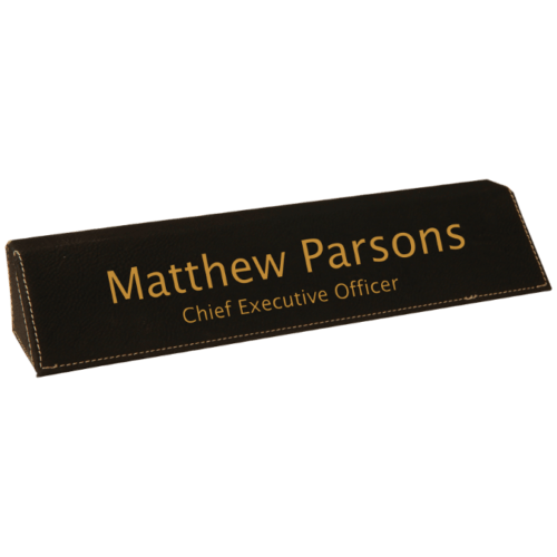 Leatherette Name Bar - 5 Colors 4
