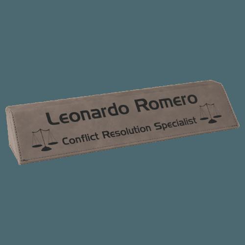 Leatherette Name Bar - 5 Colors 5
