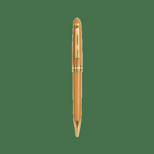 Bamboo Single Pen Case with Pen 3