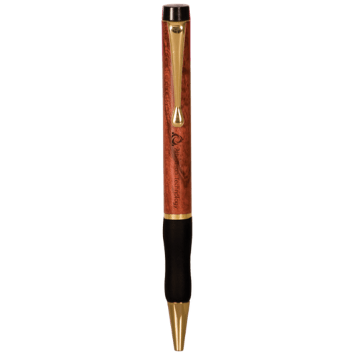 Rosewood Finish Ballpoint Pen with Gripper
