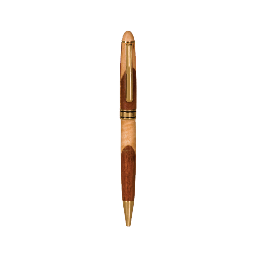 Maple and Rosewood Pen Case with Magnetic Closure 2