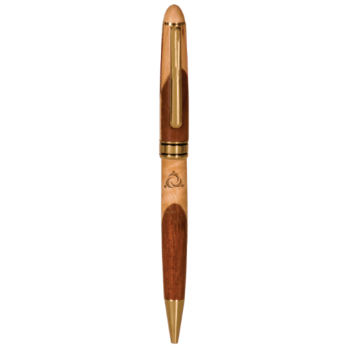 Maple & Rosewood Finish Ballpoint Pen