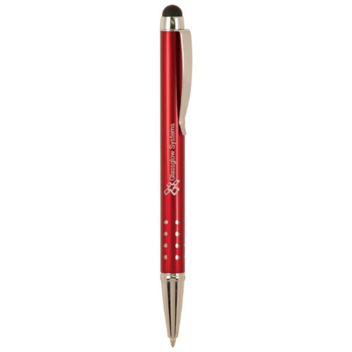 Gloss Ballpoint Pen with Stylus - 5 Colors 2