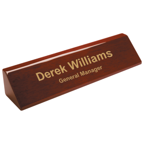 personalized desk wedge