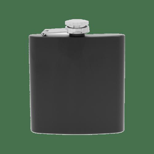 6 oz. Matte Black Flask Set in Rosewood Finish Box w/4 Shot Glasses & Funnel 2
