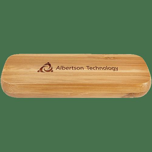 Bamboo Single Pen Case with Pen 2