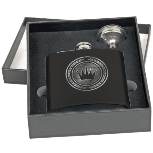 6 oz. Stainless Steel Flask Gift Set - 2 Colors 1