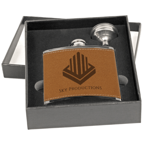 6 oz. Stainless Steel Flask Gift Set - 2 Colors 3