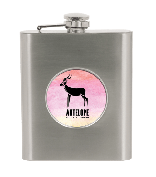 6 oz. Stainless Steel Flask with 2
