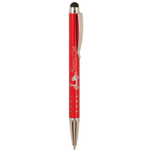 Gloss Ballpoint Pen with Stylus - 5 Colors 4