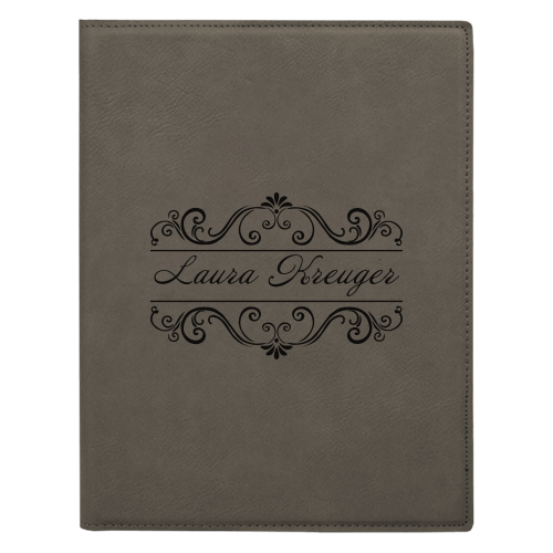 Leatherette Portfolio with Notepad - 16 Colors & 2 Sizes 5