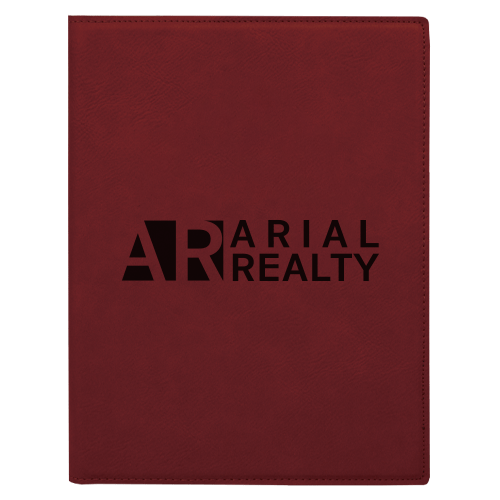 Leatherette Portfolio with Notepad - 16 Colors & 2 Sizes 7