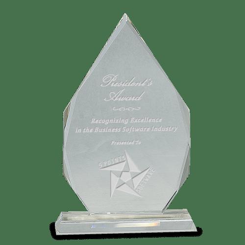 Clear Crystal Tear Drop Award - 3 Sizes 1