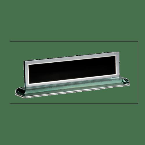 Black Mirrored Glass Name Bar 2