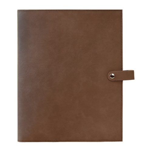 Leatherette Book Cover with Snap Closure - 6 Colors & 2 Sizes 12