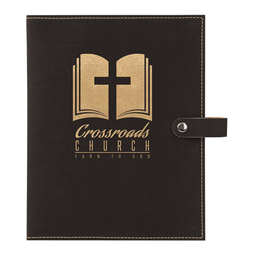Leatherette Book Cover with Snap Closure - 6 Colors & 2 Sizes 9