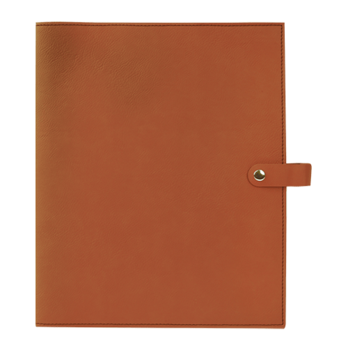 Leatherette Book Cover with Snap Closure - 6 Colors & 2 Sizes 8