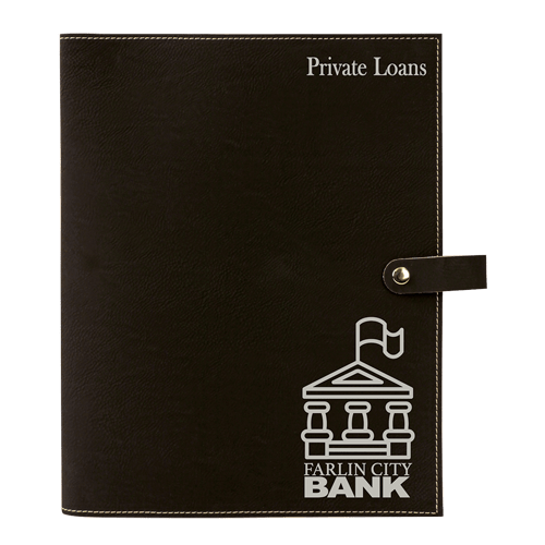 Leatherette Book Cover with Snap Closure - 6 Colors & 2 Sizes 3