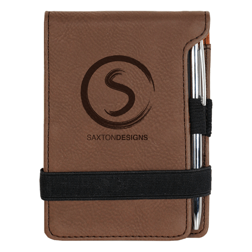 Leatherette Mini Pad with Pen - 15 Colors 10