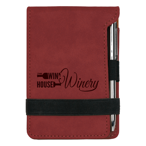 Leatherette Mini Pad with Pen - 15 Colors 2