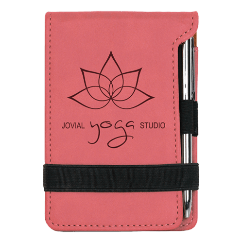 Leatherette Mini Pad with Pen - 15 Colors 3